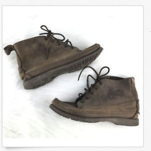 J. CREW Chukka Ankle Boots Distressed Leather 5.5